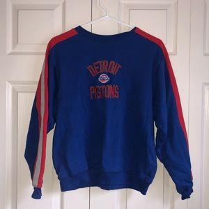 Retro Detroit Pistons Adidas Crewneck Sweatshirt